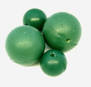 GREEN PAINTED HD POLY BALLS